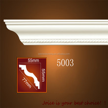 NO. 5003 PU Polyurethane kitchen ceiling cabinet crown injection plastic ceilling corner decoration moulding