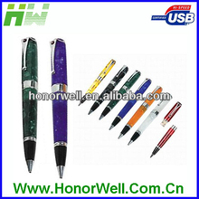 Factory OEM High Quality Colorful Acrylics Pen USB Flash Drive 2GB with