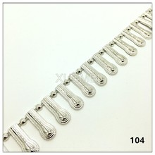 wholesale flat back plastic silver decoration chain beaded neckline collar trims
