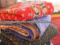 Authentic indian old vintage kantha Quilt, Reversible 100% cotton Quilts/Throw/Blanket/Gudari RV29