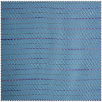 Cotton and poly twill yarn dyed stripes fabric with metallic thread