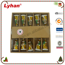 Lyhan new Christmas Santa warm led string lights with try me indoor decoration