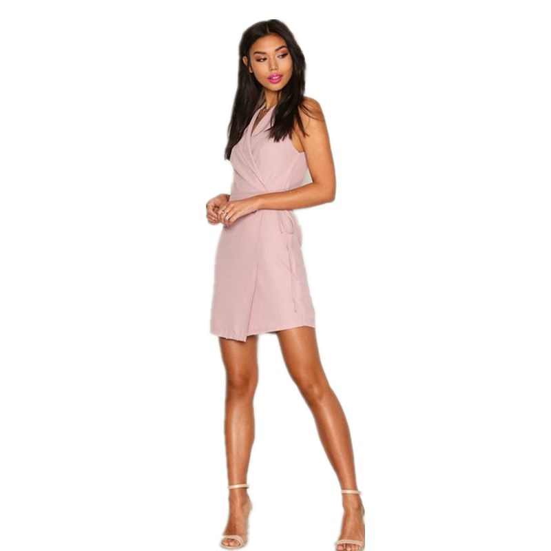 Fashionable short pink cap sleeve summer casual clothing women party dress