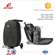 Pc/eva Luggage Baby Motorcycle Battery Powered Electric Balance Scooters With 3 Wheels with aftggp