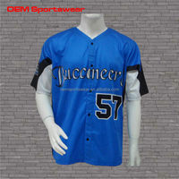 Durable dye sublimation baseball team jerseys 100% polyester
