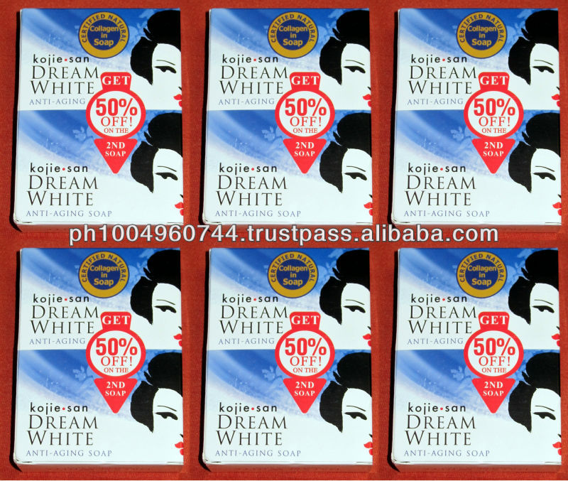 12 pcs Kojie San Dream White Collagen Kojic Acid Soap