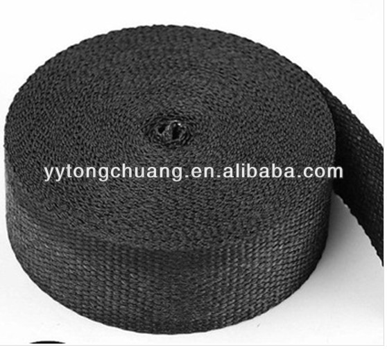 "black fiberglass exhaust inslation wrap 2""x50' FACTOR DIRECT SALES"