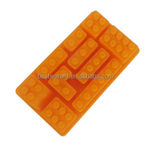 Small fda silicone rubber 10 cups building blocks ice cube tray with different size and shape
