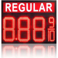 petrol station gas price signs