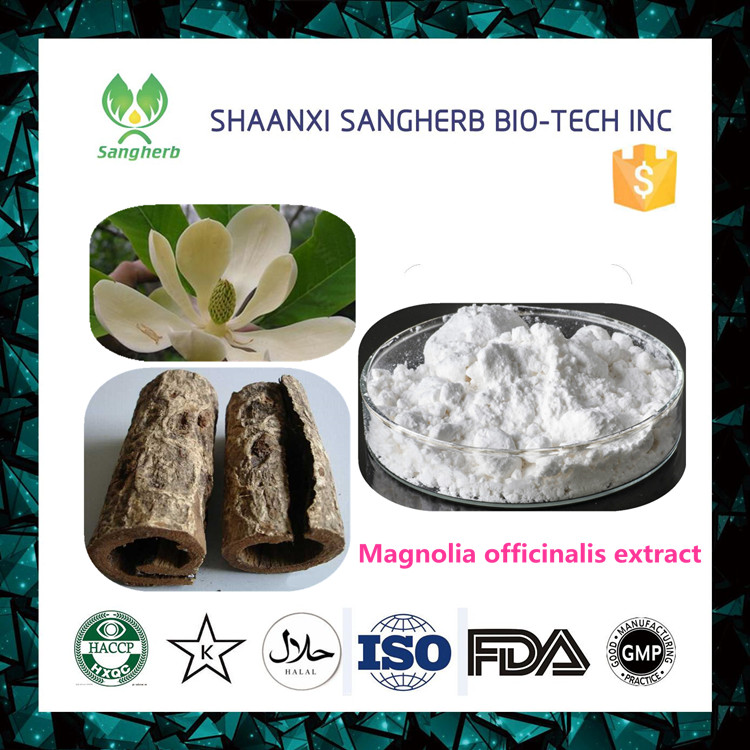 supplier skin whitening 10%~98% honokiol powder magnolia bark extract with best quality and low price