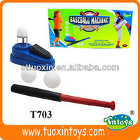Kids pitching baseball machine