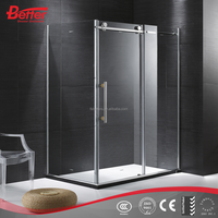 simple frameless tempered glass sliding circular prefab round shower cabin