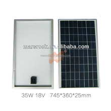 35W 18V Poly Silicon Solar Photovoltaic Panel Module With Aluminum Frame