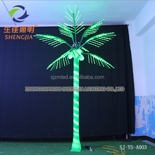 Alibaba seller China supplier Outdoor Christmas holiday Beach Decorative electric LED Coconut palm Artificial tree light