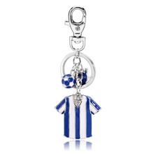 Hot new products made in china Argentina soccer jersey charm pendant purse hanging key chain