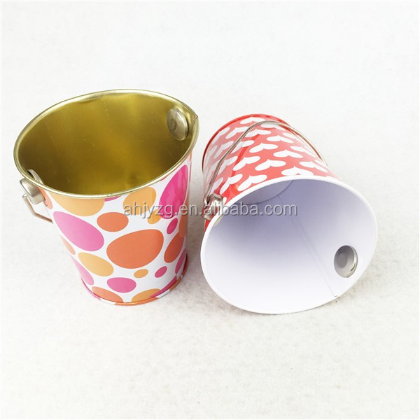 food grade promotion packaging box wholesale tin bucket