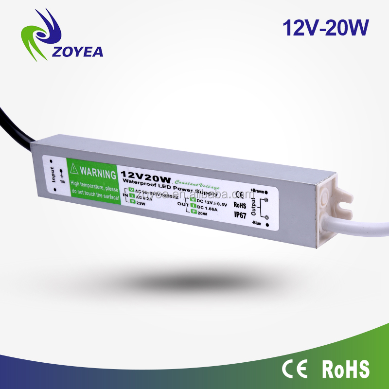 20w 12v IP67 constant voltage led driver