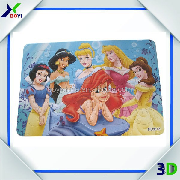 Customized Paper Cartoon Jigsaw Puzzle for Kids/Puzzle games