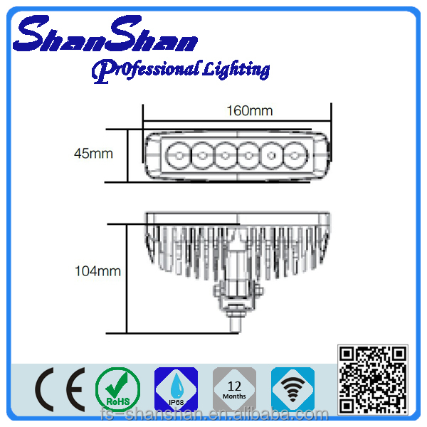 Wholesale car led light bar off road SS1005 4*4