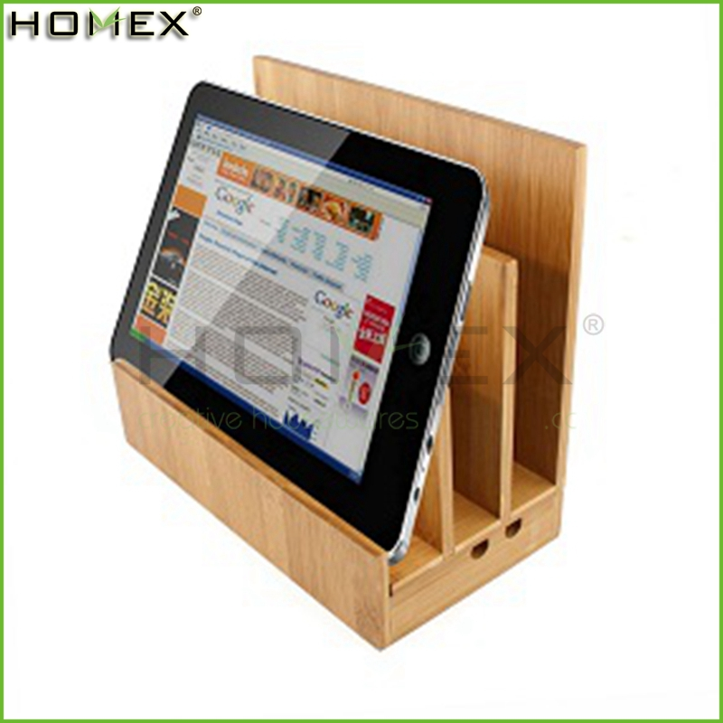 Low price guaranteed quality bamboo book reading ipad stand/Ipad Pos Stand/Homex_Factory