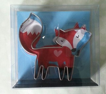 fox shape Lovely cookie cutter custom
