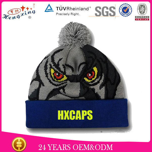 2015 High Quality Knitted Beanie Cap/Hat with earphone