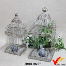 garden rusty metal decoration bird metal cage