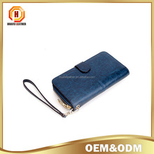 Tan leather women leather wallet high quality lady purse wallet