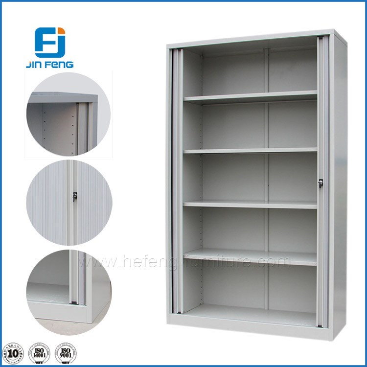 Narrow edge shutter door filing cabinets