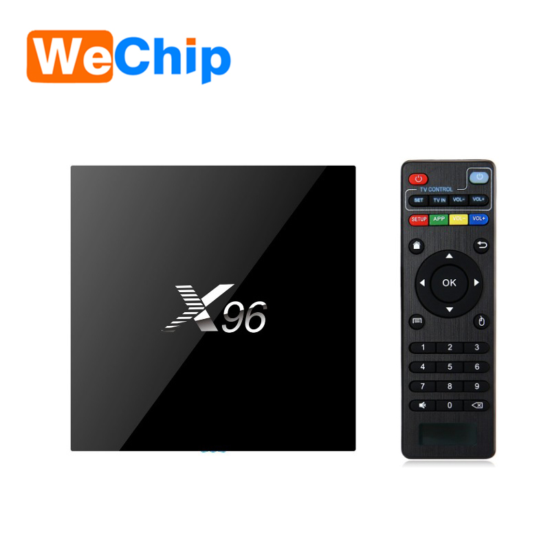 Cheapest android 6.0 marshmallow tv box Wechip X96 amlogic s905X TV BOX X96