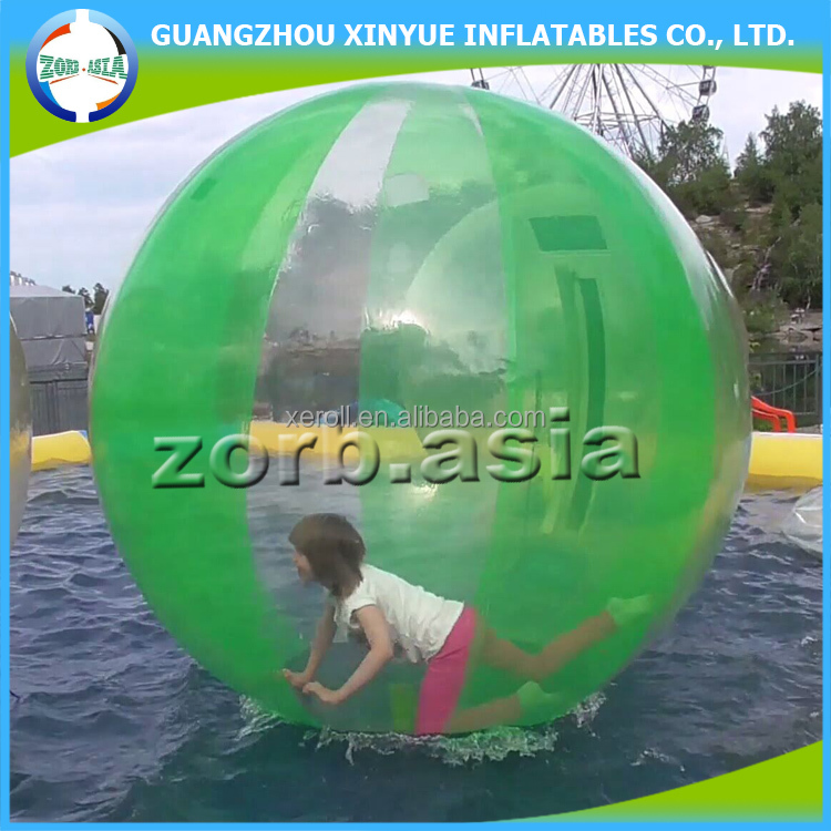 2017 Most popular colorful big aqua water balloon / inflatable aqua ball for water games
