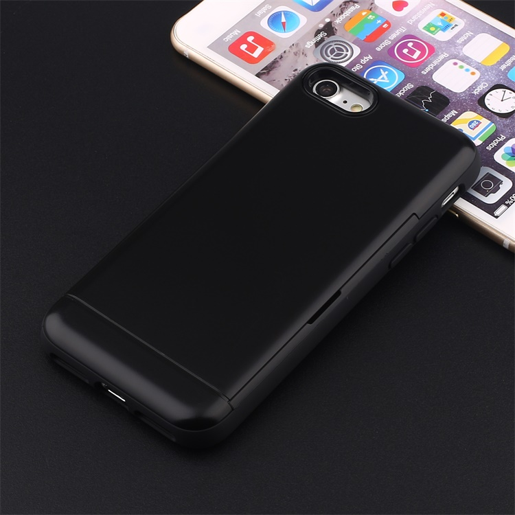 Blank cell phone cover for iphone 7 silicone case, phone case with card slide