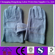 New style gray cow split leather working protecting gloves