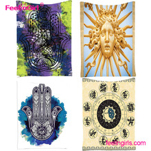 Islamic Indian Mandala Square Fatima Custom Made Hippie Tapestry Wall Hangings