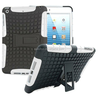 HOT 2 in 1 TPU+PC Hybrid Kickstand Cover for iPad Mini 1 2 3,For iPad Mini 1 2 3 Case