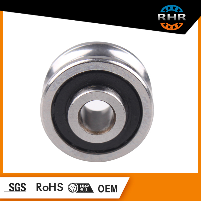 hot sale deep groove ball bearing with v groove rail