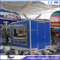 JX-FS250 three sides window open mobile fast food van for sale