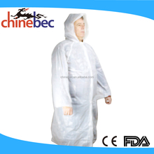 Wholesale Custom Made Biodegradable Disposable PVC PE Rain Poncho/Raincoat