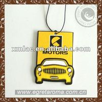 Customized own design hanging paper car air freshener for car paper air freshener