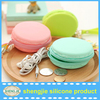 Portable silicone coin bag with zipper