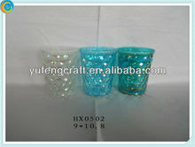 electroplating light glass candle holder