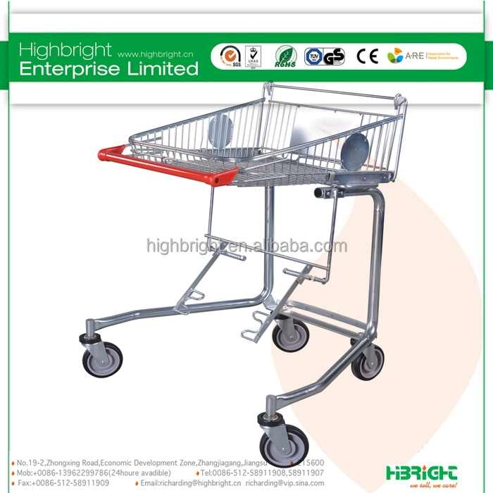 Supermarket handicapped cart,disabled shopping cart,shopping trolleys for the elderly
