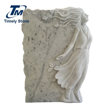 China cemetery  angel engraving headstone white marble monuments