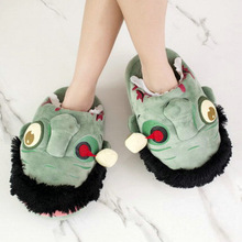 Plush Zombie Slipper Stuffed Mummy In Door Slippers Halloween Shoes Toys