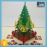 Custom high quality hand made novelty 3d pop up christmas cards