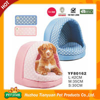 Round innovative dog bed with canopy