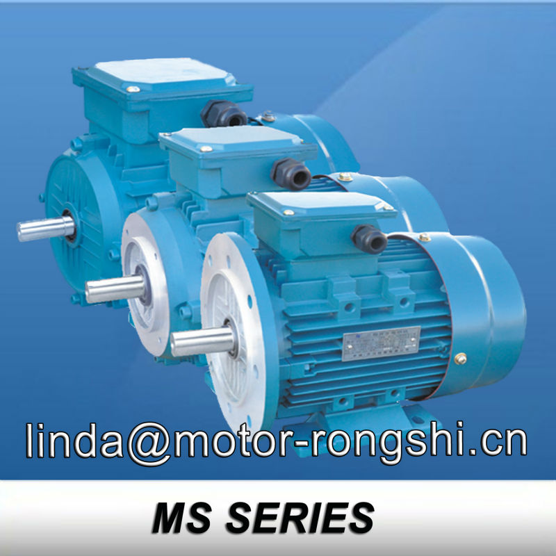 MS Series Factory MS ac electrical motors 0.18hp 100% copper wire