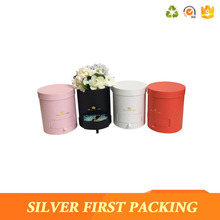 Wholesale waterproof round cardboard paper flower box with drawer