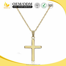 Faith Simple Polished Cross Gold Plated Fashion Unisex stainless steel Necklace Pendant