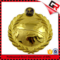 Good quality gold plating metal badges die casting